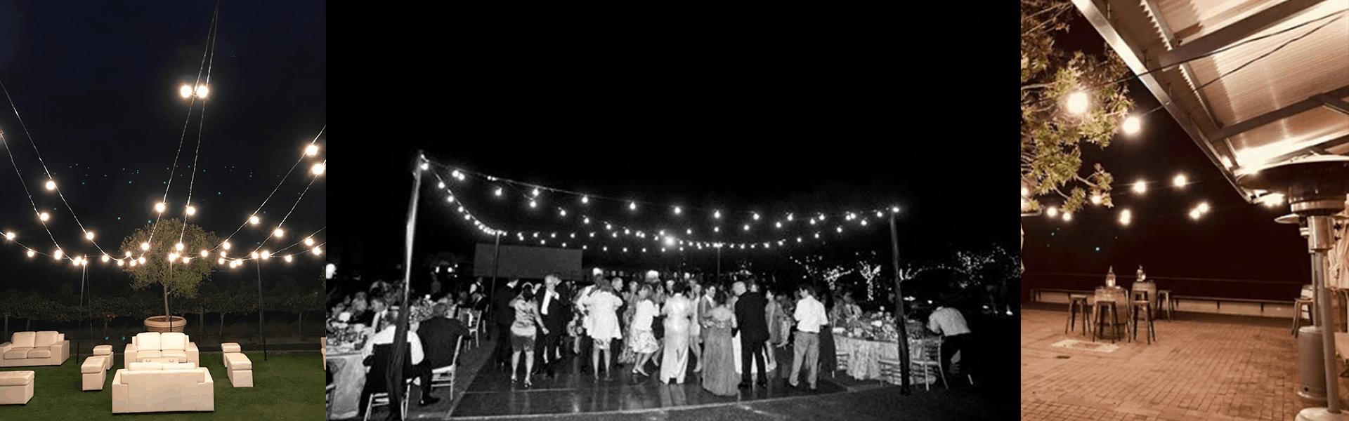 wedding mood lighting fairy lights